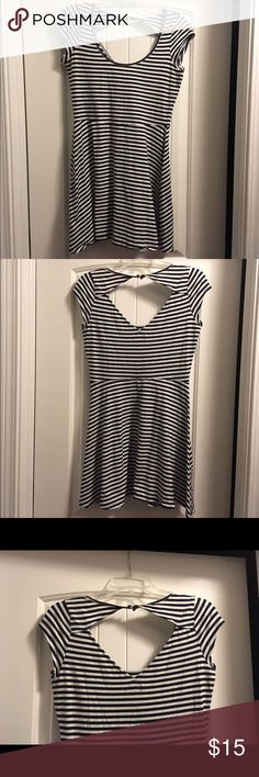 American eagle mini dress! Striped dress with open back. Great condition, no rips, stains, tears. It is a mini so it's short American Eagle Outfitters Dresses Mini