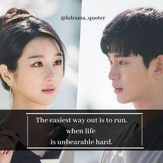 Korean Drama List, Korean Drama Quotes, Hyun Seo, K Quotes, Beautiful Lines, Drama Movies, Its Okay, I Fall In Love, Lovers