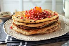 clatite americane cu iaurt grecesc Pancakes, Food And Drink, Sweets, Breakfast, Design, Greece, Morning Coffee, Good Stocking Stuffers, Candy