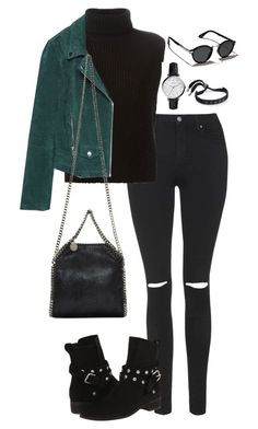 """""""Untitled #299"""" by elliedella ❤ liked on Polyvore featuring Topshop, Étoile Isabel Marant, Zara, FOSSIL, See by Chloé, STELLA McCARTNEY, Marc by Marc Jacobs and Abercrombie & Fitch"""
