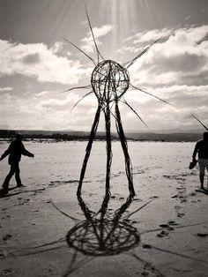 TWITTER 22 Aug. Jonathan vd Walt. Another black wattle piece. 'The Earth Pods' by Kim Goodwin and Lara Kirsten at the #Plett Site_Specific #LandArtBiennale. #LandArt