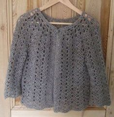 This free crochet pattern is very customizable. You determine the length and width of this chevron lace sweater by trying it on as you crochet, and you can add long or cap sleeves. Finish with your favorite buttons and accessories