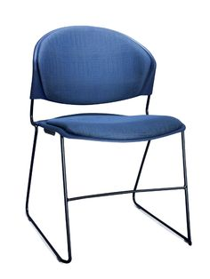 Trendway Jet Stacker Chair (TW300U2). Ergonomically contoured seat & back. Durable polypropylene shell. Stacks or stores simply. Solid steel frame comes in multiple finishes.