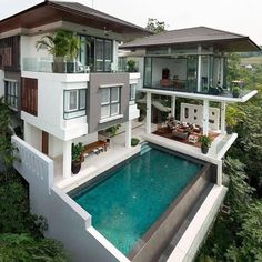 Modern House Plans With Pool Design 65 Ideas Modern Home Design, Dream Home Design, Amazing Architecture, Architecture Design, Luxury Swimming Pools, Luxury Pools, Modern Mansion, Luxury Homes Dream Houses, Dream Homes