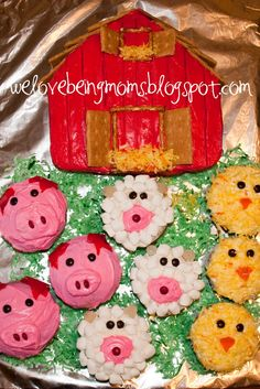 Farm Animal Cupcakes Animal Cupcakes And Farm Animals On