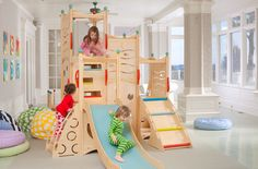 Indoor Playset 662 - Sunday morning sillies? This playset is PJ friendly and will give them the perfect spot to get their giggle on. The kids can climb and slide to their hearts' content while you get the coffee brewing!