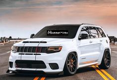 RaceMesh™ Grilles > Made To Order! Setting vehicles apart one RaceMesh Grille at a time! Grand Cherokee Overland, Jeep Grand Cherokee Srt, Srt8 Jeep, Badass Jeep, Beach Cruiser Bikes, Best Suv, Chrysler Jeep, Jeep Life, My Ride