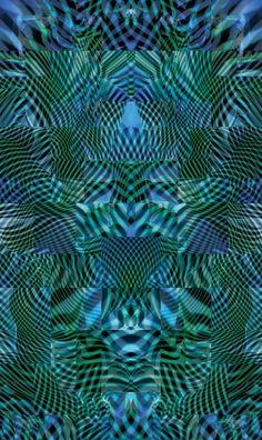 Tom Jazzbend Tvar modré / Forme blue print on canvas 56x95