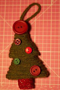 Yarn Wrapped Christmas Ornaments w/ tutorial