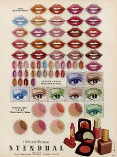 these cut-out lips and nails fascinated me as a kid. 1974