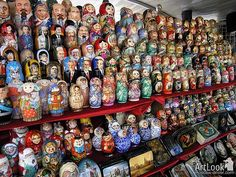 The traditional symbol of russian culture is Matreshka (also spelled Matryoshka), which is a set of nesting dolls. Most of them are exclusive author's works made by famous russian artists. Every doll (except the last one, the smallest) consists of two parts.