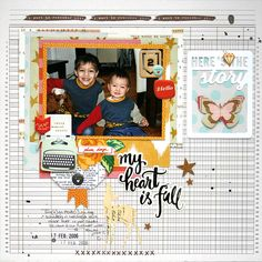 Page created by design team member Monique Liedtke with the Scraptastic Club Shake It Off kit