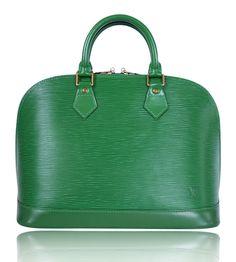 #Louis #Vuitton Green Epi Alma Bag