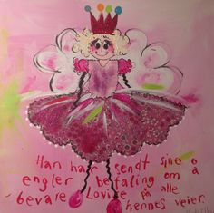 Prinsesse Colorful Paintings, Blessings, Lamb, Minnie Mouse, Blessed, Scrapbooking, Christmas Ornaments, Holiday Decor, Disney Characters