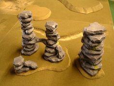 Making and painting crystal outcrops - Forum - DakkaDakka Game Terrain, 40k Terrain, Wargaming Terrain, Warhammer 40k, Warhammer Terrain, Tabletop Rpg, Tabletop Games, Foam Cutter, D Craft
