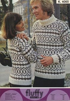 Alpin 4065 Norwegian Knitting, Sweaters For Women, Men Sweater, Tweed, Needlework, Knitwear, Knit Crochet, Knitting Patterns, Holiday Sweaters