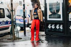 How The Street Style Set Wear Wide Leg Trousers | British Vogue