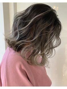 Midi Hair, Balayage Long Hair, Short Grunge Hair, Dark Hair With Highlights, Gorgeous Hair Color, Aesthetic Hair, Shoulder Hair, Hair Color And Cut, Green Hair