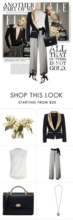 """""""ELLE MAGAZINE : Miley Cyrus"""" by limass ❤ liked on Polyvore featuring Cyrus, Ethan Allen, River Island, Jean-Paul Gaultier, Mulberry and French Connection"""