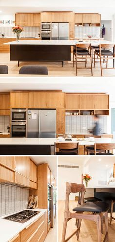 This Bespoke, Mid Century Modern Styled Kitchen, That Features An Island  With Mid