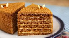 Medovik is a classic Russian honey cake that dates back more than 200 years. Most modern medovik cakes are made with a special, homemade filling. Russian Honey Cake, Russian Cakes, Russian Desserts, Russian Recipes, Russian Foods, Baking Recipes, Cake Recipes, Dessert Recipes, Medovik Cake Recipe
