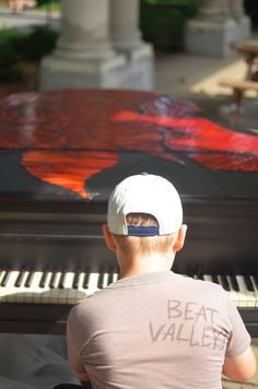2015 Sing for Hope Piano placed in McGolrick Park