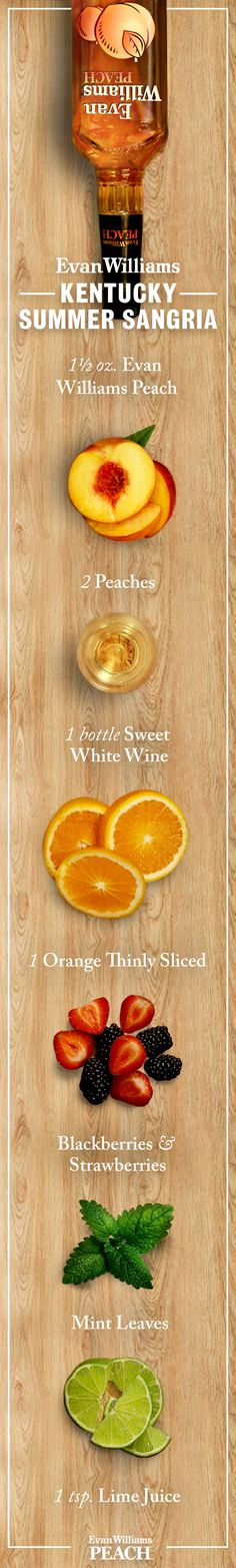 Sangria is better in Kentucky. See for yourself with Evan Williams Peach! #Bourbon