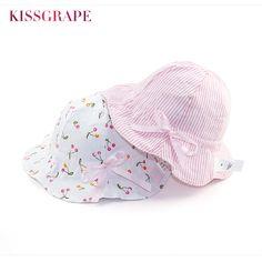 Baby Sun Hat · New Baby Girls Sweet Sun Hats Summer Breathable Cotton Butck  Hats with Wide Brim Sunscreen Kids bcf63b1cdb9b