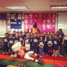 SnapWidget   Miles the Mascot and safety David Bruton visited Hillcrest Elementary School to support National Breakfast in School Week with the Western Dairy Association this morning.