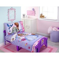 Sofia Friends are Magic 4Piece Toddler Bedding Set *** Read more reviews of the product by visiting the link on the image.