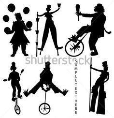 siluetas de personajes de circo - Buscar con Google