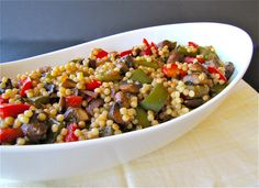 Susi's Kochen Und Backen Adventures: Israeli Couscous with Balsamic Glazed Vegetables