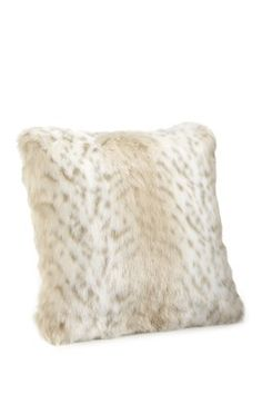 """Limited Edition 24"""" Faux Fur Pillow - Lynx"""