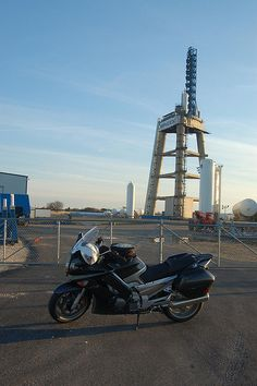 SpaceX Rocket Test Stand near McGregor Texas and Yamaha FJR