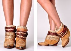 Not really a cowboy boots kind of girl, but these are cute. I'm tempted to try to make them.