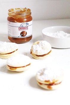 lemon meringue cakes with dulce de leche