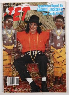 1992 Michael Jackson in Africa cover of JET magazine.