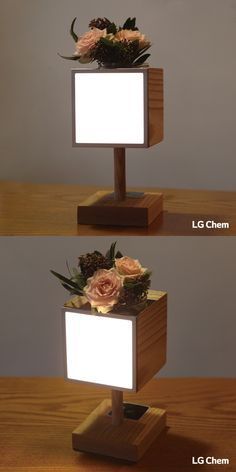 Looking for a new DIY project to make with your kids. Why not a wodden Oled lamp with the Oled DIY Kit by LG Display. Oled Light, Lg Display, Mood Lamps, Led Diy, Light Crafts, Luz Led, Light Fittings, Wooden Diy, Lamp Light