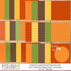 Fall Colors Digital Paper Mega Pack