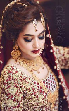 #Sara Pakistani Bridal Hairstyles, Bridal Hairstyle Indian Wedding, Indian Bridal Photos, Pakistani Bridal Makeup, Bridal Hair Buns, Pakistani Wedding Outfits, Indian Bridal Fashion, Bride Hairstyles, Bridal Pictures