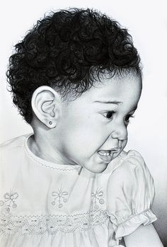 Drea, via Flickr. - portrait done by Ryan Freeman for a friend's mother    ~  it is amazing in detail, lovely