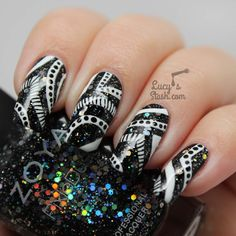 Monochrome Nail Art feat. with Zoya & Nails Supreme Pens