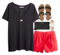 """""""Untitled #249"""" by valerienwashington on Polyvore featuring H&M, Ancient Greek Sandals, Kate Spade and Kendra Scott"""