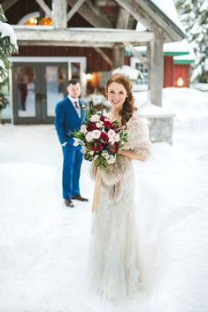 Trillium Resort WInter Wedding in Port Sydney, Muskoka by Vaughn Barry Photography Winter Wedding Fur, Wedding Coat, Ivory Wedding, Winter Weddings, Christmas Wedding, Christmas Morning Outfit, Wedding Wraps, Long Sleeve Wedding, Modest Wedding Dresses