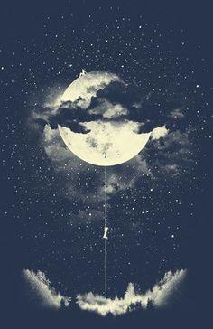 Viser la lune. Toujours ☾ Si on rate, on atterrira dans les étoiles ✩ (Et avec un peu de chances, on rencontrera Le Petit Prince ♥)