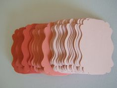 Gift tags 150 Escort CardsTrio of Coral and Peach by MorrellDecor, $11.49