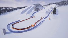 Get a first look at what to expect from the ski and snowboard cross course that is sure to be one of the highlight venues of the PyeongChang 2018 Olympic Win. Ski And Snowboard, Snowboarding, Nordic Combined, Freestyle Skiing, Lillehammer, Ski Jumping, Alpine Skiing, Winter Games, Snowboards