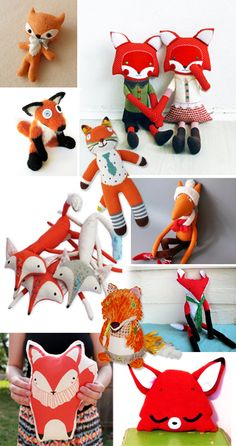 Ohhhh! HAve to mkae for my Lil Fox man <3 Best stuffed fox toys and diy patterns