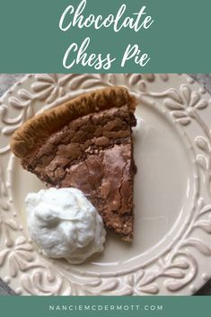Chocolate Chess Pie gives rich, tasty results for the tiniest amount of work. Quick and easy baking, perfect for Valentine's Day or any-day delight! Chocolate Chess Pie, Melting Chocolate, Chocolate Heaven, 1950s Food, Mini Muffin Pan, British Baking, Jello Recipes, Unsweetened Chocolate, Chocolate Flavors