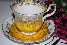 ROYAL ALBERT  Bone China Vintage Tea Cup and by HoneyandBumble, $23.00